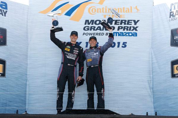 1-3 May, 2015, Monterey, California, USA GTD class winners Patrick Lindsey and Spencer Pumpelly ©2015, Michael L. Levitt LAT Photo USA