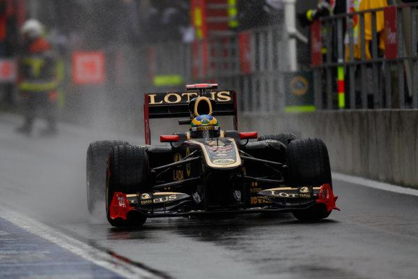 Spa-Francorchamps, Spa, Belgium25th August 2011.Bruno Senna, Lotus Renault GP R31. Action. World Copyright: Glenn Dunbar/LAT Photographicref: Digital Image _G7C0669