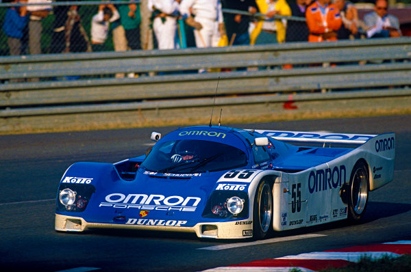 Le Mans, France. 10th - 11th June 1989.Vern Schuppan/Eje Elgh/Gary Brabham (Porsche 962C), 13th position, action.World Copyright: LAT Photographic.Ref:  89LM15.