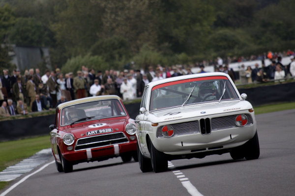 Goodwood Estate, West Sussex. 15th - 18th September 2011. St Marys Trophy. Andy Priaulx, Bmw 2002. World Copyright: Gary Hawkins/LAT Photographic. Ref:  Digital Image Only.