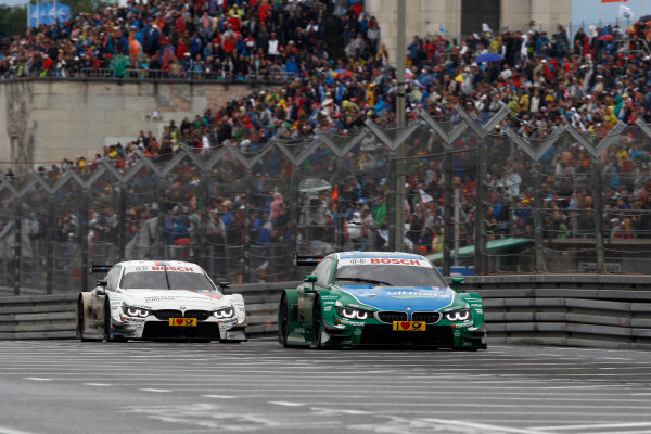 2014 DTM Championship Round 4 - Norisring, Germany 27th - 29th June 2014  Augusto Farfus (BRA) BMW Team RBM BMW M34 DTM and  Martin Tomczyk (GER) BMW Team Schnitzer BMW M4 DTM World Copyright: XPB Images / LAT Photographic  ref: Digital Image 3190602_HiRes