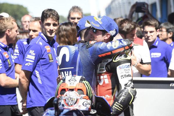 Maverick Viñales, Yamaha Factory Racing, Cal Crutchlow, Team LCR Honda.