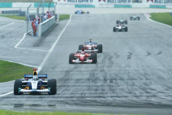 2003 Malaysian Grand Prix. Sepang, Kuala Lumpur, Malaysia.21-23 March 2003.Nic Heidfeld (Sauber C22 Petronas) 8th position.World Copyright - LAT Photographic ref: Digital Image Only
