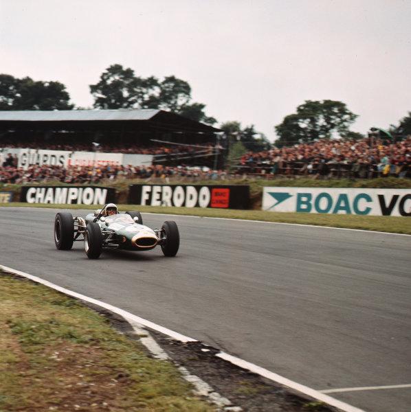 1966 British Grand Prix.Brands Hatch, England.14-16 July 1966.Jack Brabham (Brabham BT19 Repco) 1st position.Ref-2248.World Copyright - LAT Photographic