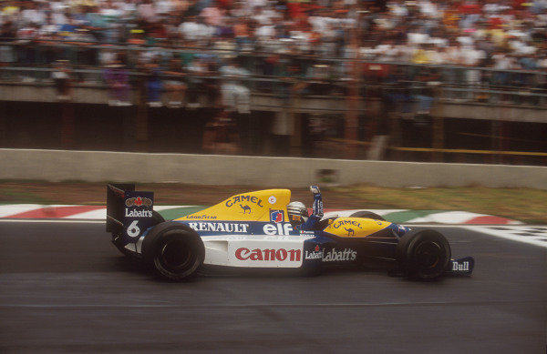 1992 Mexican Grand Prix.Mexico City, Mexico.20-22 March 1992.Riccardo Patrese (Williams FW14B Renault) 2nd position.Ref-92 MEX 01.World Copyright - LAT Photographic