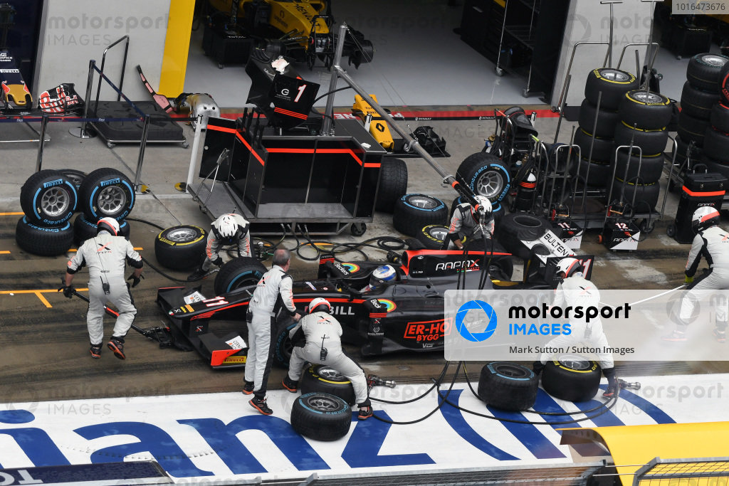 Gustav Malja (SWE) Rapax makes a pitstop at GP2 Series, Rd4, Spielberg, Austria, 1-3 July 2016.