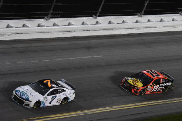 #7: Corey LaJoie, Spire Motorsports, Chevrolet Camaro Youtheory, #19: Martin Truex Jr., Joe Gibbs Racing, Toyota Camry