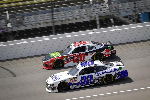 #00: Cole Custer, Stewart-Haas Racing, Ford Mustang Jacob Companies, #20: Christopher Bell, Joe Gibbs Racing, Toyota Supra Rheem / RTP