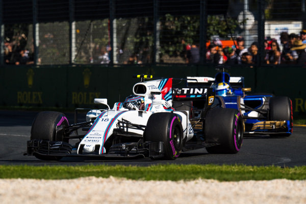 Lance Stroll (CDN) Williams FW40 at Formula One World Championship, Rd1, Australian Grand Prix, Race, Albert Park, Melbourne, Australia, Sunday 26 March 2017.