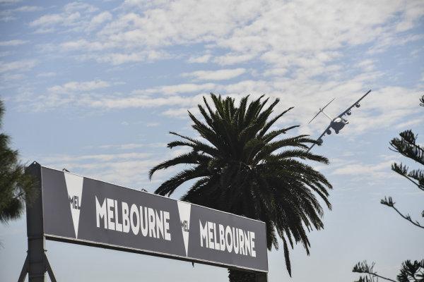 Flypast at Formula One World Championship, Rd1, Australian Grand Prix, Race, Albert Park, Melbourne, Australia, Sunday 26 March 2017.