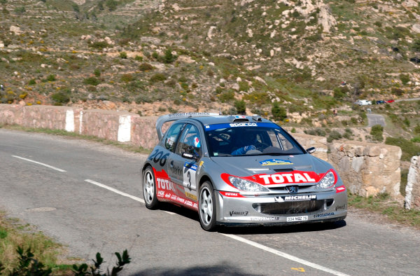 2002 World Rally ChampionshipRally Catalunya, 21st-24th March 2002.Gilles Panizzi on Stage 5.Photo: Ralph Hardwick/LAT