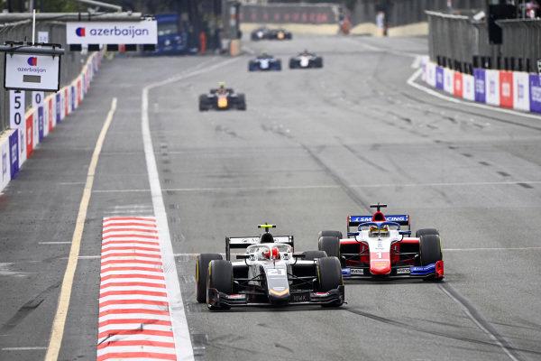 Ralph Boschung (CHE, Campos Racing) and Robert Shwartzman (RUS, Prema Racing)