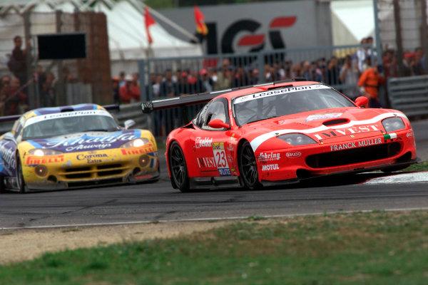 2002 FIA GT ChampionshipEnna Pergusa, Sicily. 22nd September 2002.Jean-Denis Deletraz/Andrea Piccini (Ferrari 550 Maranello), action.World Copyright: Photo 4/LAT Photographicref: Digital Image Only
