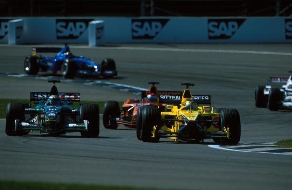 Jean Alesi(FRA) Jordan Honda EJ11 USA Grand Prix, Indianapolis 30 September 2001 BEST IMAGE