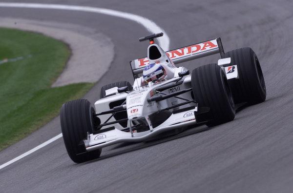 2001 American Grand Prix - QualifyingIndianapolis, United States. 29th September 2001.Olivier Panis, BAR Honda BAR003, action.World Copyright: Steve Etherington/LAT Photographicref: 18mb Digital Image