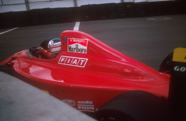 1990 United States Grand Prix.Phoenix, Arizona, USA.9-11 March 1990.Nigel Mansell (Ferrari 641). He exited the race after his engine blew on lap 50.Ref-90 USA 01.World Copyright - LAT Photographic
