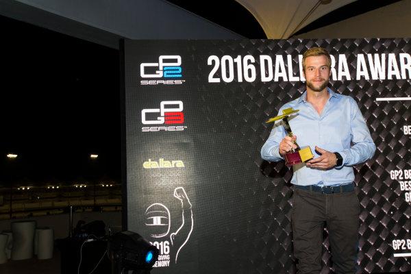 2016 GP2/3 Awards Evening. Yas Marina Circuit, Abu Dhabi, United Arab Emirates. Sunday 27 November 2016. Koiranen GP Photo: Sam Bloxham/GP2 Series Media Service/GP3 Series Media Service. ref: Digital Image _SLA9804
