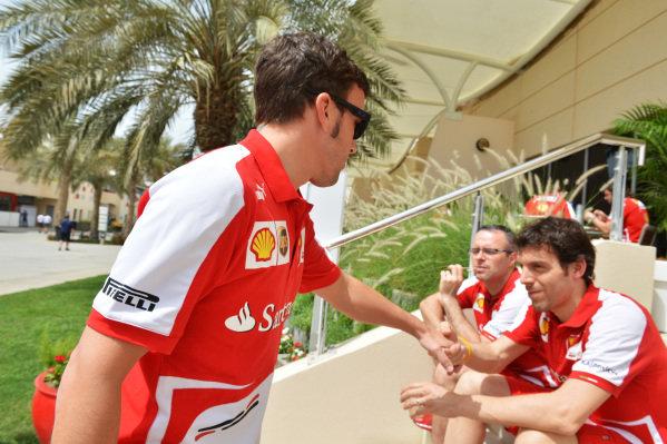 Fernando Alonso (ESP) Ferrari. Formula One World Championship, Rd4, Bahrain Grand Prix Preparations, Bahrain International Circuit, Sakhir, Bahrain, Thursday 18 April 2013.