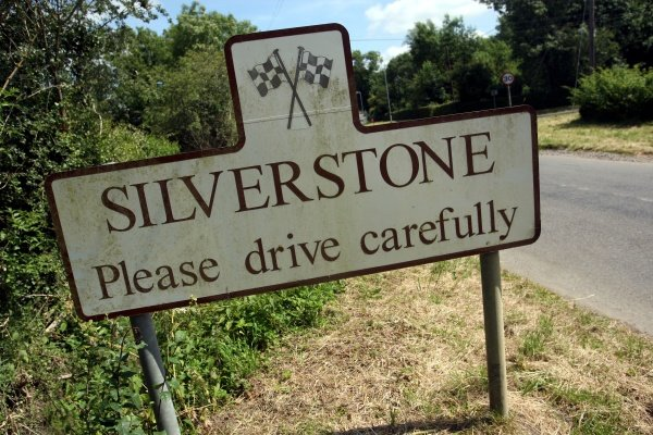 "Silverstone Village ""Please Drive Carefully"" sign. Formula One World Championship, Rd9, British Grand Prix, Monday Preparations, Silverstone, England, 30 June 2008."