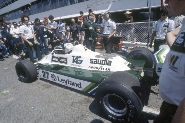1980 French Grand Prix.Paul Ricard, France. 27-29 June 1980.Alan Jones (Williams FW07B-Ford Cosworth), 1st position.World Copyright: LAT PhotographicRef: 35mm transparency 80FRA01