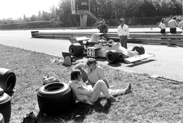 1974 Italian Grand Prix.Monza, Italy. 8 September 1974.Chris Amon (Amon AF101-Ford Cosworth), did not qualify.World Copyright - LAT PhotographicRef: b&w print