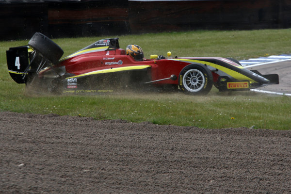 2017 BRDC Formula 3 Championship, Rockingham, England. 29th-30th April 2017, Omar Ismail (GBR) Chris Dittmann Racing BRDC F3 World copyright. JEP/LAT Images
