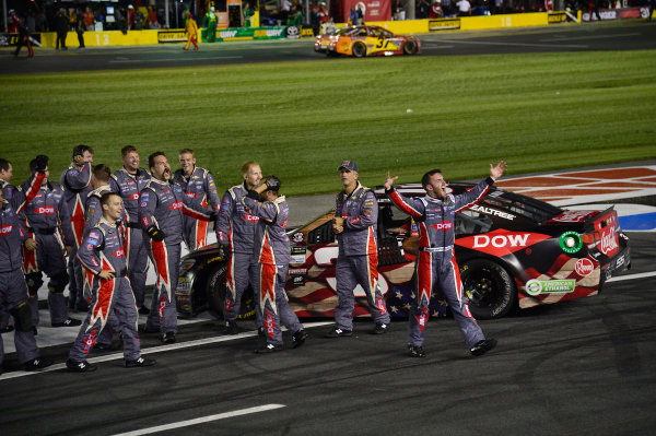 Monster Energy NASCAR Cup Series Coca-Cola 600 Charlotte Motor Speedway, Concord, NC USA Monday 29 May 2017 Austin Dillon, Richard Childress Racing, Dow Salutes Veterans Chevrolet SS, Celebrates after winning the Coke 600. World Copyright: David Yeazell LAT Images ref: Digital Image 17CLT2jh_04496