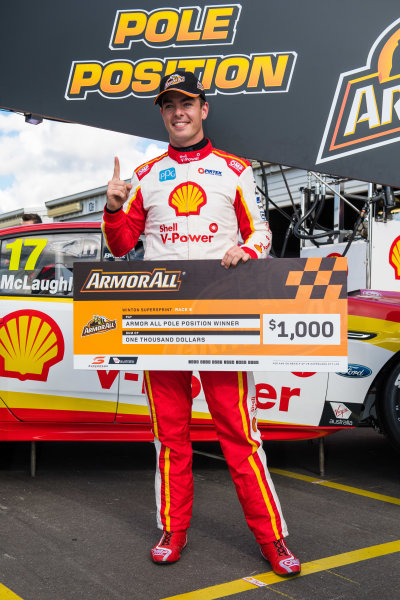 2017 Supercars Championship Round 5.  Winton SuperSprint, Winton Raceway, Victoria, Australia. Friday May 19th to Sunday May 21st 2017. Scott McLaughlin driver of the #17 Shell V-Power Racing Team Ford Falcon FGX. World Copyright: Daniel Kalisz/LAT Images Ref: Digital Image 200517_VASCR5_DKIMG_5231.JPG