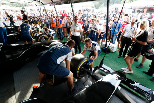 Red Bull Ring, Spielberg, Austria. Saturday 08 July 2017. The Pit Stop Challenge in the F1 fan village. World Copyright: Glenn Dunbar/LAT Images ref: Digital Image _X4I8096