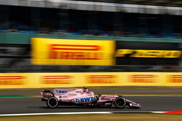 Silverstone, Northamptonshire, UK.  Friday 14 July 2017. Esteban Ocon, Force India VJM10 Mercedes. World Copyright: Glenn Dunbar/LAT Images  ref: Digital Image _31I2901