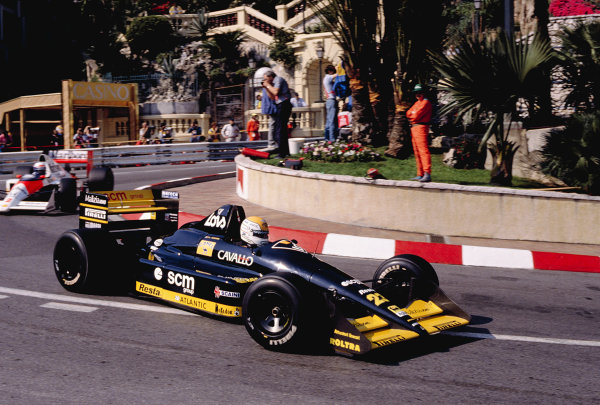 1989 Monaco Grand Prix.Monte Carlo, Monaco.4-7 May 1989.Pierluigi Martini (Minardi M188B Ford) at Loews Hairpin.Ref-89 MON 51.World Copyright - LAT Photographic