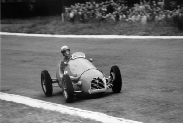 1952 Belgian Grand Prix.Spa-Francorchamps, Belgium. 22 June 1952.Jean Behra (Gordini T16). Ref-52/25 #10.World Copyright - LAT Photographic