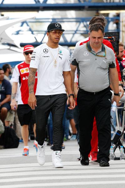 Interlagos, Sao Paulo, Brazil. Friday 7 November 2014. Lewis Hamilton, Mercedes AMG. World Copyright: Charles Coates/LAT Photographic. ref: Digital Image _J5R3048