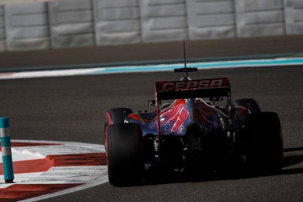 Yas Marina Circuit, Abu Dhabi, United Arab Emirates. Wednesday 26 November 2014. Max Verstappen, Toro Rosso STR9 Renault.  World Copyright: Sam Bloxham/LAT Photographic. ref: Digital Image _G7C9092