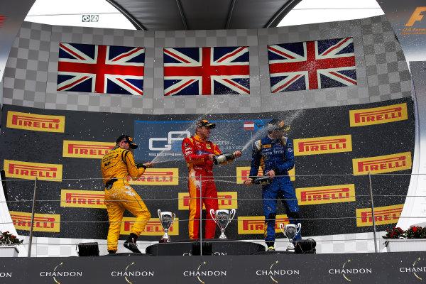 2016 GP2 Series Round 4 Red Bull Ring, Spielberg, Austria. Sunday 3 July 2016. Jordan King (GBR, Racing Engineering), Oliver Rowland (GBR, MP Motorsport) & Alex Lynn, (GBR, DAMS)  Photo: Sam Bloxham/GP2 Series Media Service. ref: Digital Image _SLA9971
