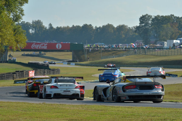 3-5 October, 2013, Alton, Virginia USA #93 SRT Motorsports and #56 BMW follow field into esses ©2013, Dan R Boyd LAT Photo USA