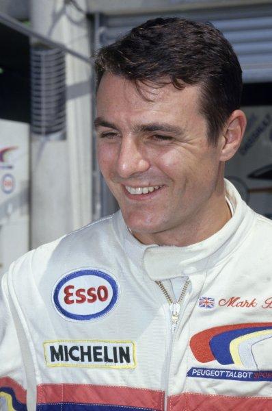 1992 Le Mans 24 Hours. Le Mans, France. 20th - 21st June 1992. Mark Blundell (Peugeot 905 Evo 1) 1st position, portrait. World Copyright: LAT Photographic. Ref: 92LM01