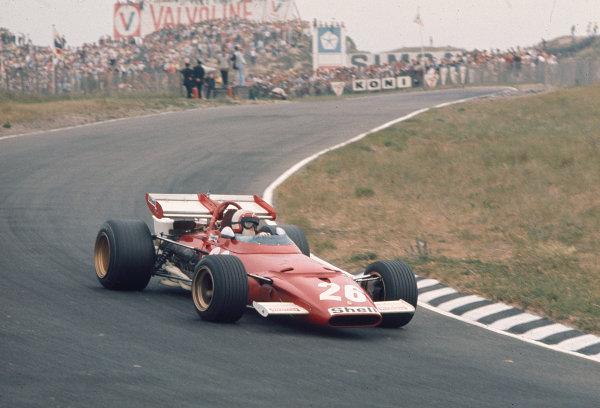 1970 Dutch Grand Prix.Zandvoort, Holland.19-21 June 1970.Clay Regazzoni (Ferrari 312B) 4th position.Ref-70 HOL 40.World Copyright - LAT Photographic