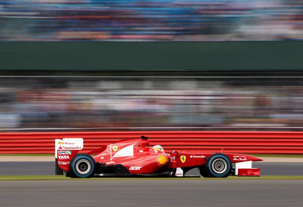 Silverstone, Northamptonshire, England 9th July 2011 Fernando Alonso, Ferrari F150° Italia. Action.  World Copyright: Steve Etherington/LAT Photographic ref: Digital Image SNE22079