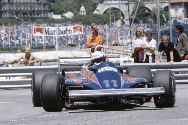 1981 Monaco Grand Prix.Monte Carlo, Monaco. 28-31 May 1981.Elio de Angelis (Lotus 87-Ford Cosworth), retired.World Copyright: LAT PhotographicRef: 35mm transparency 81MON65
