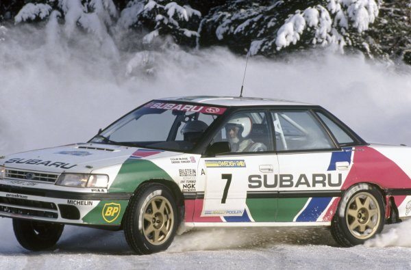 1992 World Rally Championship.Swedish Rally, Sweden. 13-16 February 1992.Colin McRae/Derek Ringer (Subaru Legacy RS), 2nd position.World Copyright: LAT PhotographicRef: 35mm transparency 92RALLY18