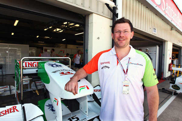 James Wade (GBR) Darts Player with the Force India F1 Team. Formula One World Championship, Rd 10, British Grand Prix, Preparations, Silverstone, England, Thursday 8 July 2010.