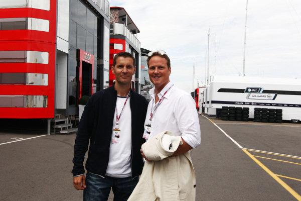 Ted Dobrzynski (CDN) F1Play.com with Barney Stinton (GBR)  Formula One World Championship, Rd 10, British Grand Prix, Preparations, Silverstone, England, Thursday 8 July 2010.
