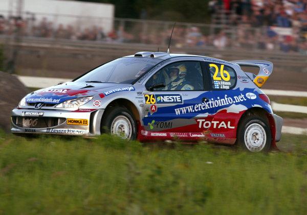 2003 FIA World Rally Champs. Round nine, Neste Rally Finland. Rally7th-10th August 2003.Ari Vatanen, Peugeot, Action. World Copyright: McKlein/LAT