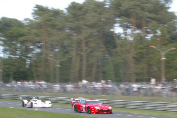 2003 Le Mans 24 HoursLe Mans, France. 14th June 2003The Ferrari GTS of Kox/Enge/Davies, action.World Copyright: Glenn Dunbar/LAT Photographicref: Digital Image Only