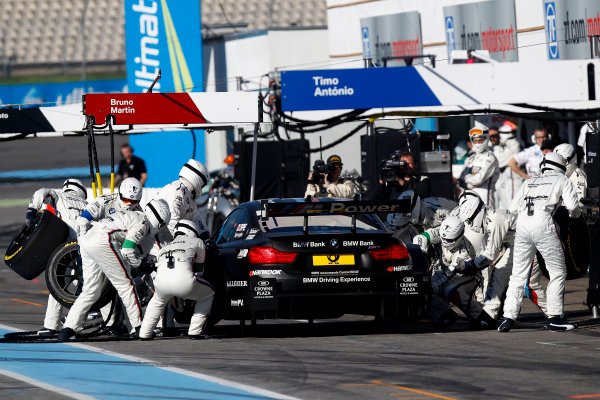 2014 DTM Championship Round 10 - Hockenheim, Germany 17th - 19th October 2014 Pitstop, Bruno Spengler (CAN) BMW Team Schnitzer BMW M4 DTM World Copyright: XPB Images / LAT Photographic  ref: Digital Image 3353980_HiRes