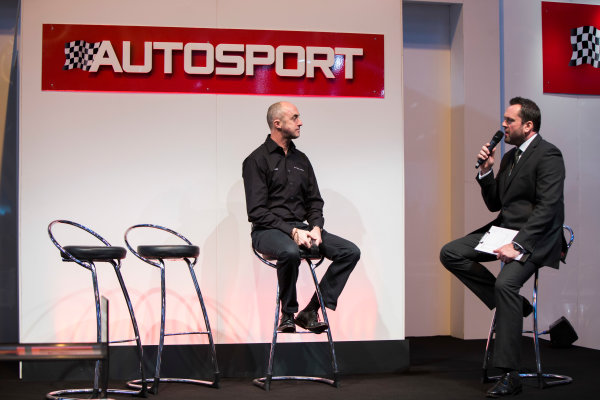 Autosport International Exhibition. National Exhibition Centre, Birmingham, UK. Thursday 8 January 2015. David Brabham on the Autosport stage. World Copyright: Zak Mauger/LAT Photographic. ref: Digital Image _L0U2540