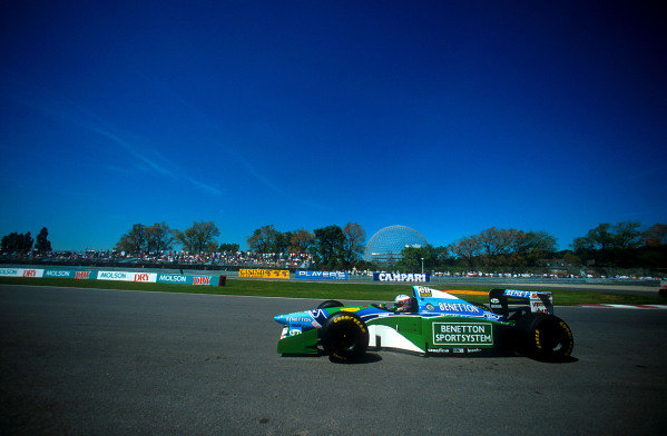 1994 Canadian Grand Prix.Montreal, Quebec, Canada.10-12 June 1994.J J. Lehto (Benetton B194 Ford) 6th positionRef-94 CAN 11.World Copyright - LAT Photographic