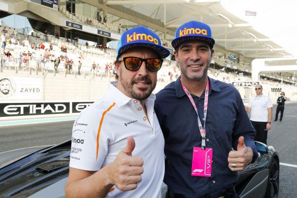 Fernando Alonso, McLaren and NASCAR driver Jimmie Johnson