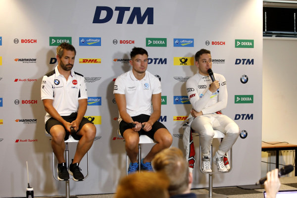 Press Conference, Timo Glock, BMW Team RMG, Jake Dennis, R-Motorsport, Robin Frijns, Audi Sport Team Abt Sportsline.